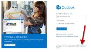 Crear correo Outllok
