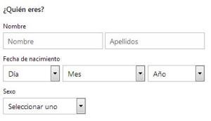 Crear correo Outlook - ¿Quién eres?