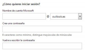 Crear correo Outlook - ¿Cómo quieres iniciar sesión?